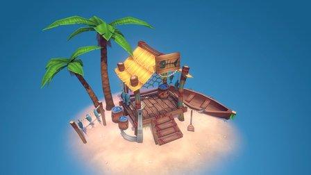 Fisherman Hut 3D Model