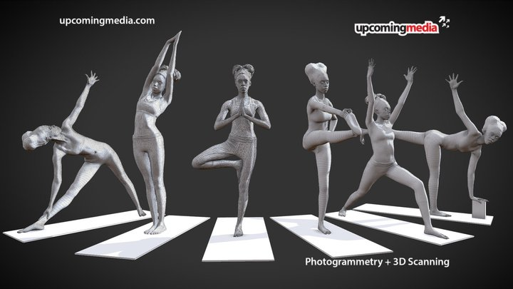 Yoga Activewear In Poses 3D Model