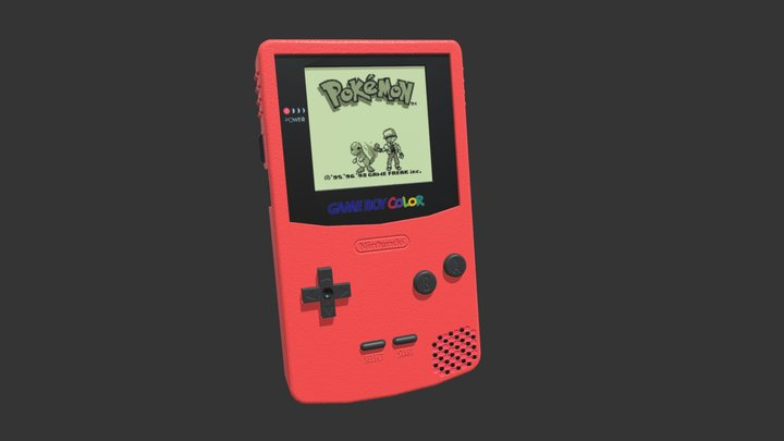 Gameboy Colour - My First Console 3D Model
