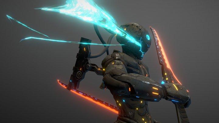 Sci-Fi Soldier Version2.1 3D Model