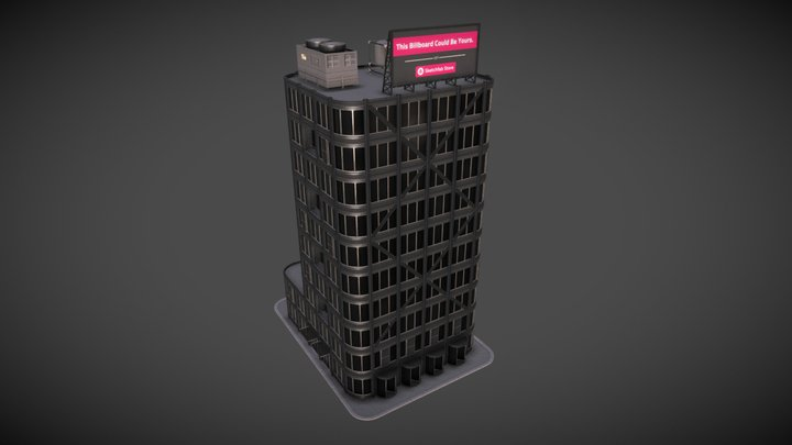 Fully Modular Modern Urban Building Kit 3D Model