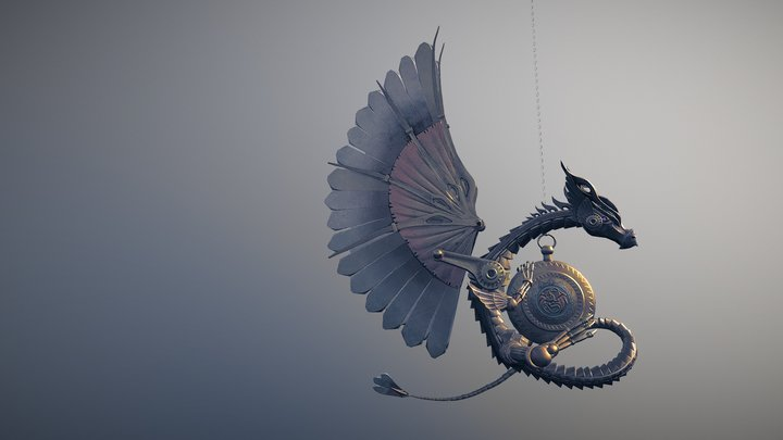 S Steam Dragon Double 3D Model