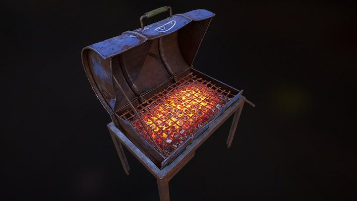 Rust - BBQ 3D Model