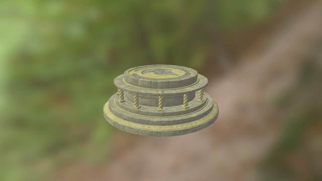 stone platform 3D Model