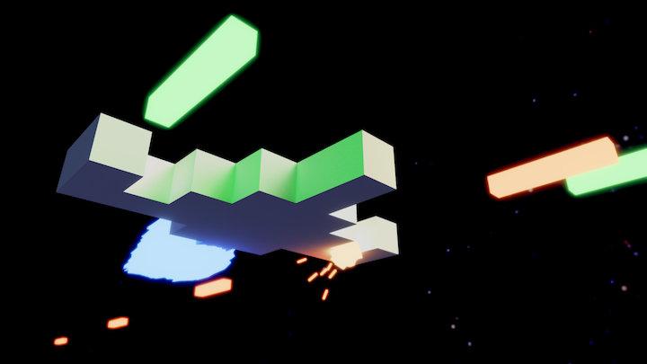 Arcade Space Battle 3D Model