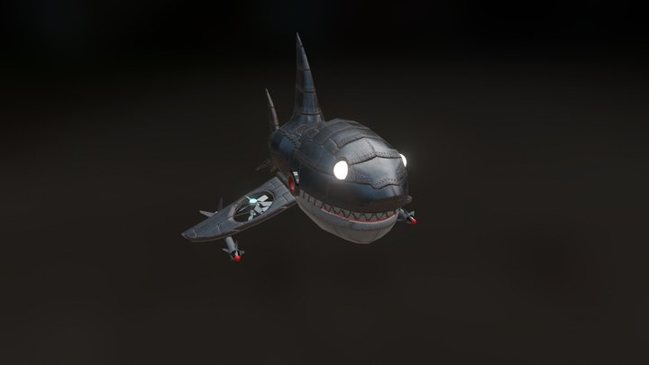 The Great White 3D Model