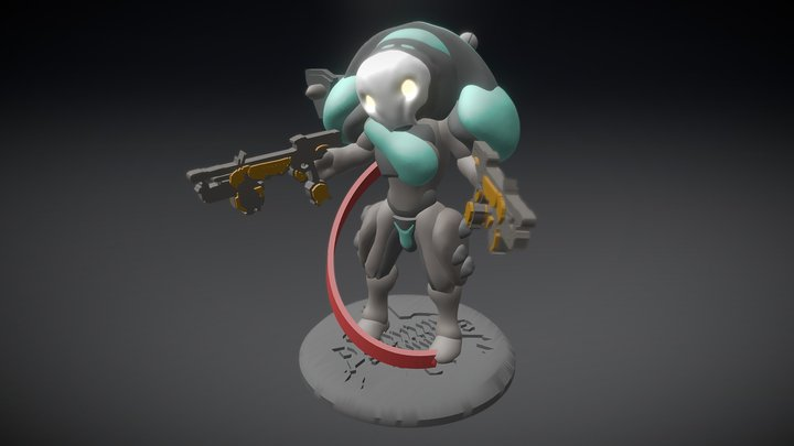 Mini Clem Figure Warframe 3D Model