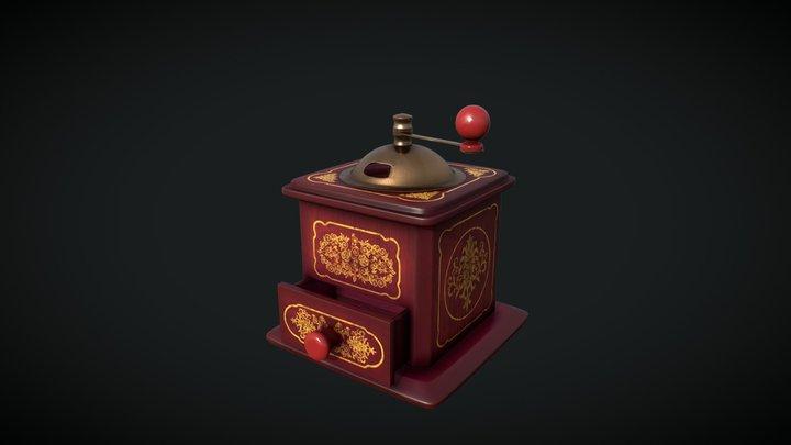 Coffee Grinder, PBR 3D Model
