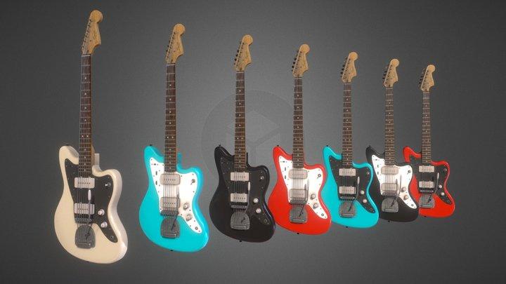Squier Jazzmaster by Fender : Custom Colors 3D Model