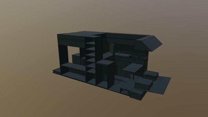 Final Van Conversion Layout 3D Model