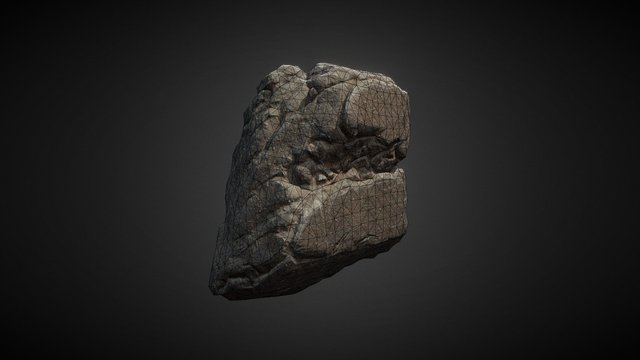 Rock 01 Low Resolution Model 3D Model