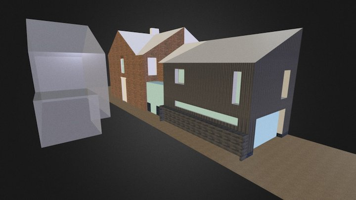 0007 New extension to semi detached house 3D Model