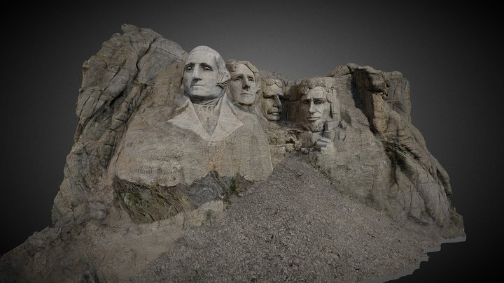 Mount Rushmore 3D Model