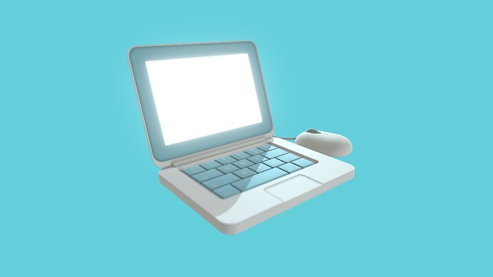 Mini MacBook Pro 3D Model