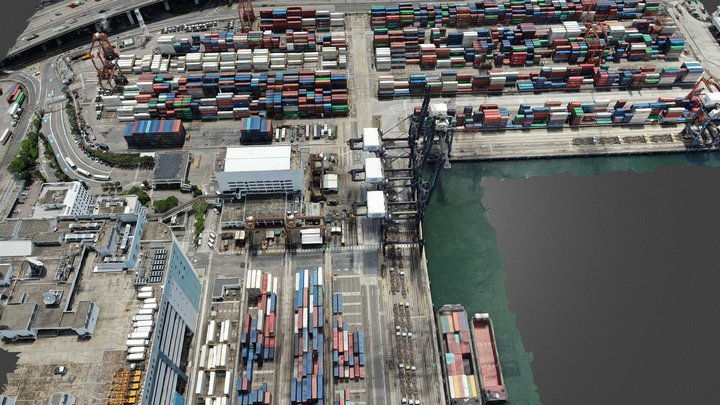 Container Terminal 3D Model