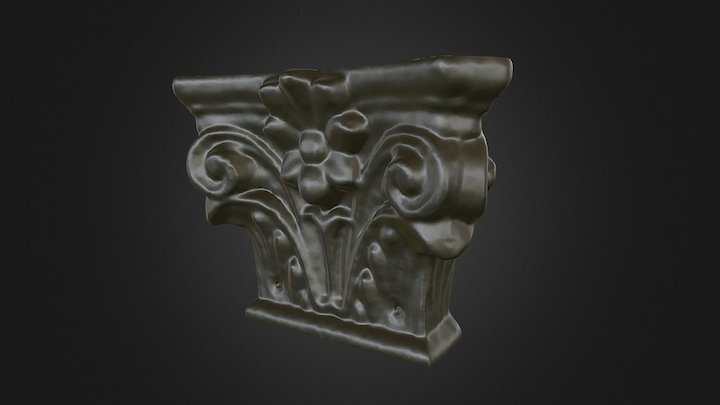 Photogrammetry of a window capital 3D Model