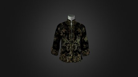 Chinese Wedding Jacket 3D Model
