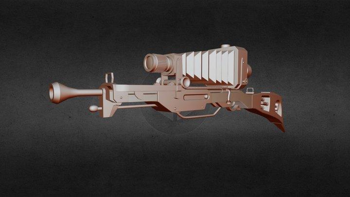 Steampunk Camera Sniper Rifle 3D Model