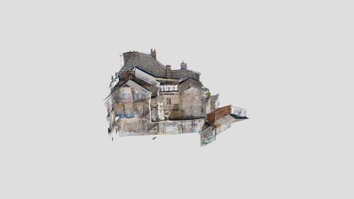 Matterport + drone scan merged 3D Model