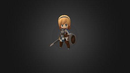 Walker's sister -Alvin 3D Model