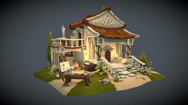 Greek Artist Estate 3D Model