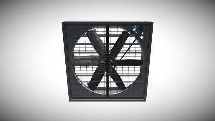 """Marenco Ventiladores - Axial de Pared GLF 50"""" 3D Model"""