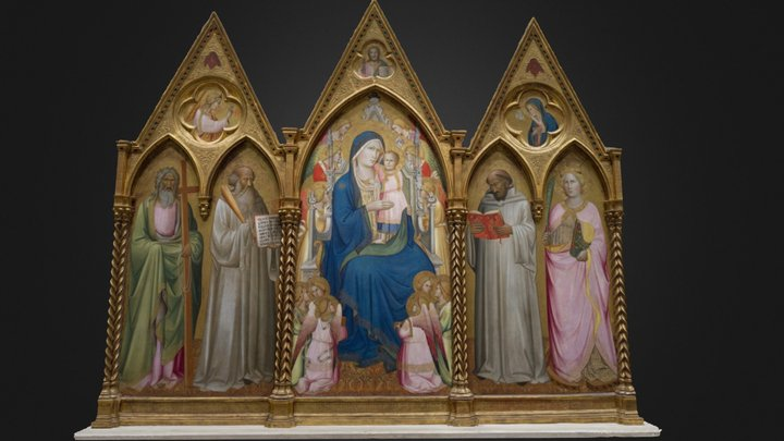 Agnolo Gaddi, Madonna and Child with Saints 3D Model