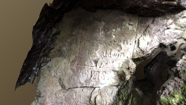 Belchertown Cave Inscription 3D Model