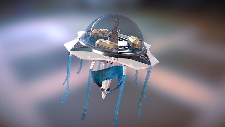 Utopic Undersea City (Final) 3D Model