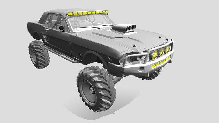 Mustang 1965 offroad 3D Model