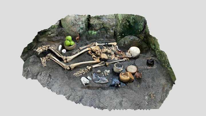 Neolithic burial reconstruction, Grantez, Jersey 3D Model