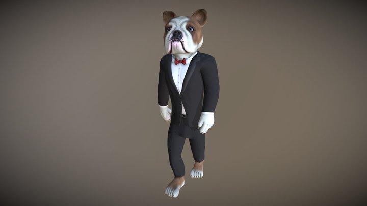 Humanoid Bulldog - Avatar 3D Model