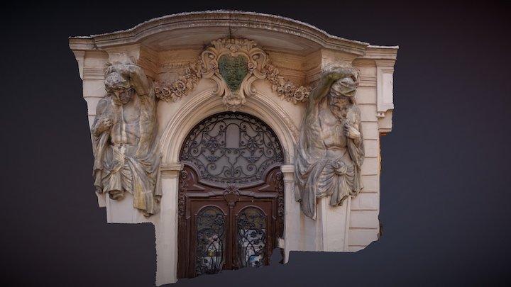 Egykori Cseh Palota kapuja (Pécs) 3D Model