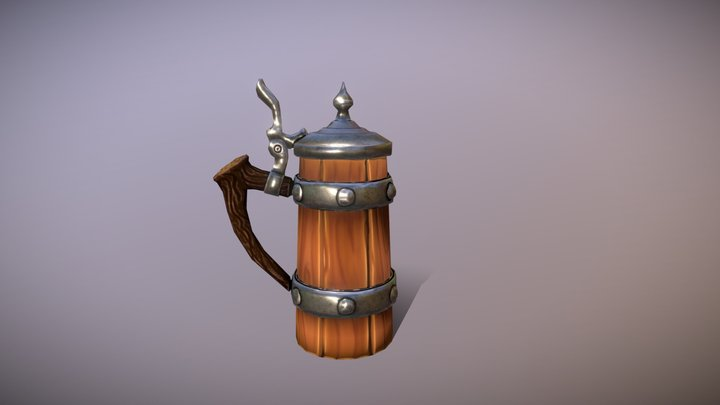 Animated Stylized Stein 3D Model