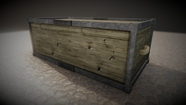 Rusty Wooden Chest (For Videogames) FREE 3D Model