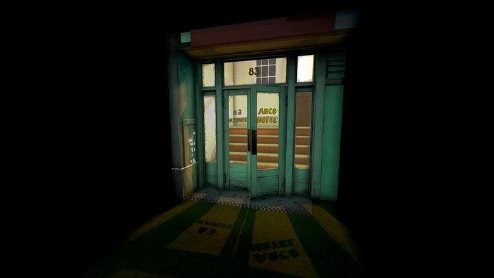 hotel entrance 3D Model