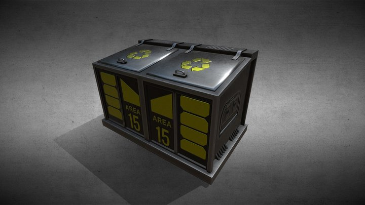 Sci-Fi Dumpster 3D Model