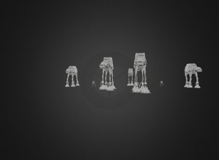 Star Wars Battle of hoth Animation 3D Model