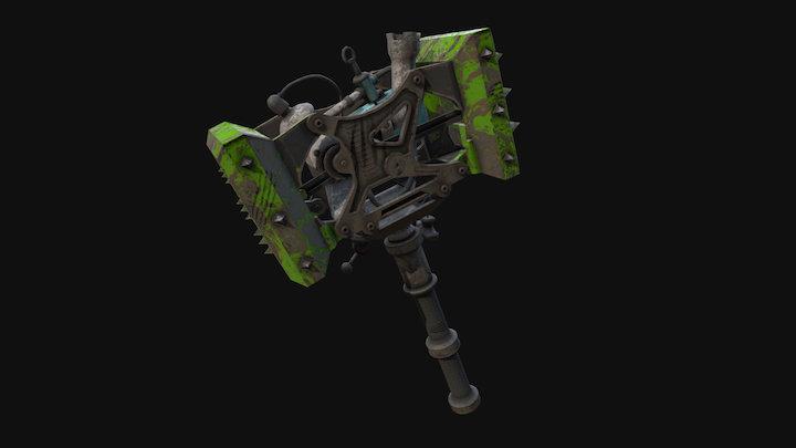 Motor-powered Mech hammer 3D Model