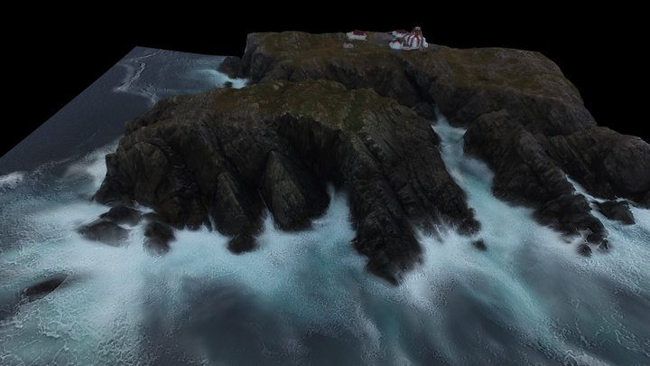 Bonavista Light House Island 3D Model