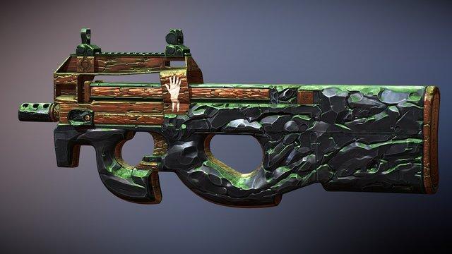 CS:GO P90 | PREHISTORIC MOSS 3D Model