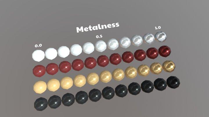 PBRchart_Metalness 3D Model