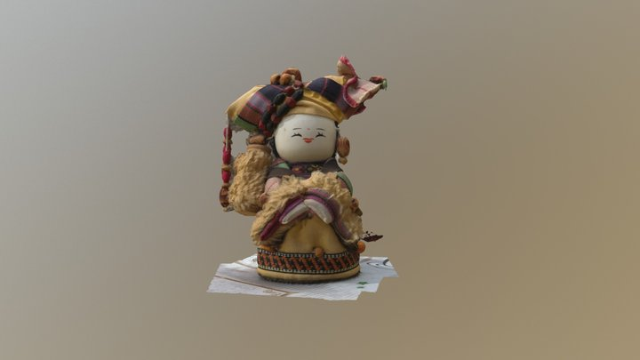 Chinese doll 3D Model