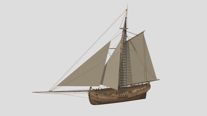 Baltic cutter, Snapp Opp type 3D Model