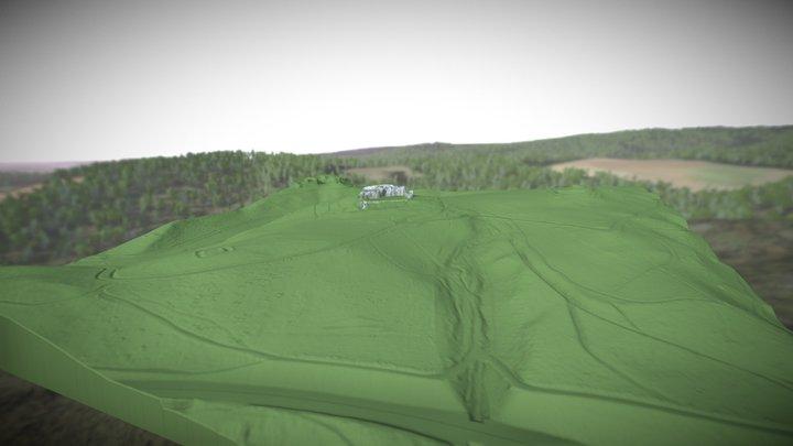 Burg Scharzfels Terrain 3D Model