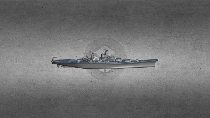 BB-61 USS Iowa 3D Model