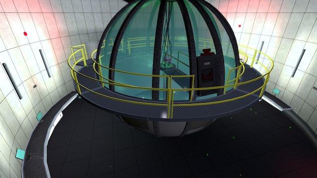 Scifi Lab Environment 3D Model