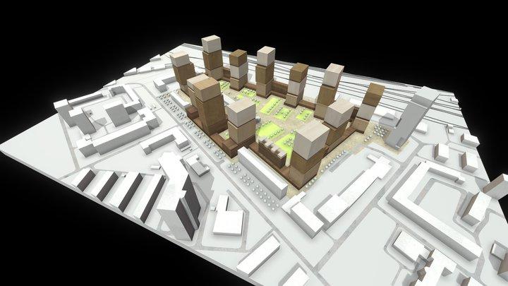 Massing Option 1 3D Model
