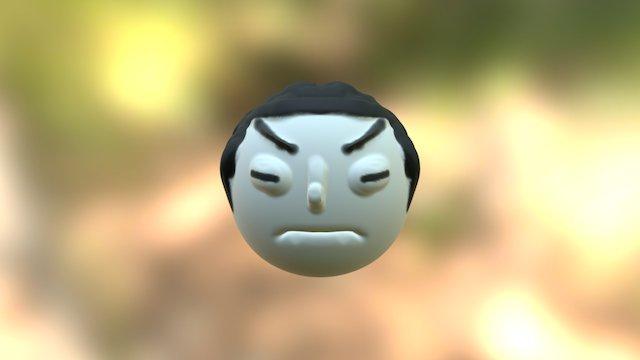 Angry Asain 3D Model