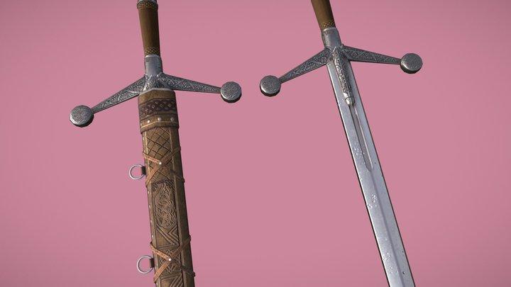 Claymore sword 3D Model
